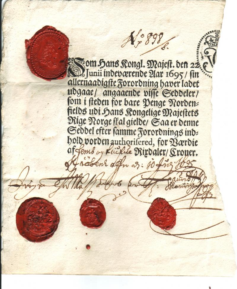 Norway 25 Rixdaler Croner 1695